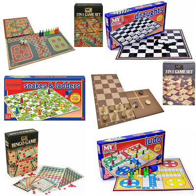 £6.99 • Buy Full Size Traditional Classic Family Board Games Kids Indoor Fun Toy Game