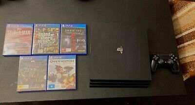AU300 • Buy Sony PlayStation 4 Pro 1TB Console + 5 Games + Controller FREE EXPRESS POSTAGE
