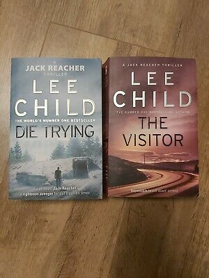Lee Child X 2 Jack Reacher Books: Die Trying & The Visitor • 4£