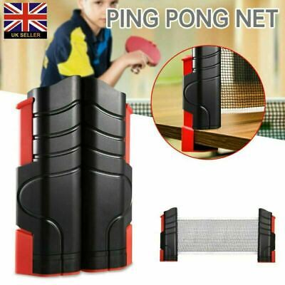 UK Portable Indoor Games Replacement Set Retractable Table Tennis Ping Pong Net • 8.29£