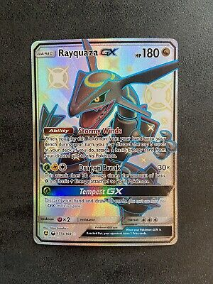 $ CDN125 • Buy Pokemon- Hidden Fates- Shiny Rayquaza GX 177a/168 Full Art- LP To NM