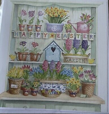 Pack 3 Home Made Blank Easter  Cards • 1.75£
