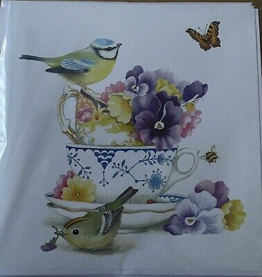 Pack 3 Home Made Blank Cards  Bird Themed • 1.75£