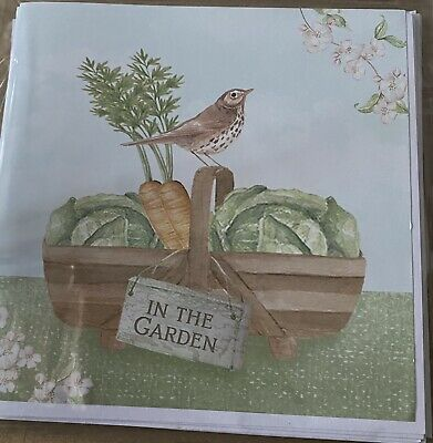 Pack 3 Home Made Blank Cards Garden Themed • 1.75£