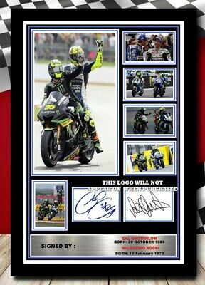 505) Valentino Rossi & Cal Crutchlow Moto Gp Signed Photograph Framed Unframed • 15.90£