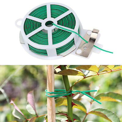 £3.59 • Buy Garden Plant Twist Ties With Cutter Tie Roll Cable For Fix Garden Plants Support