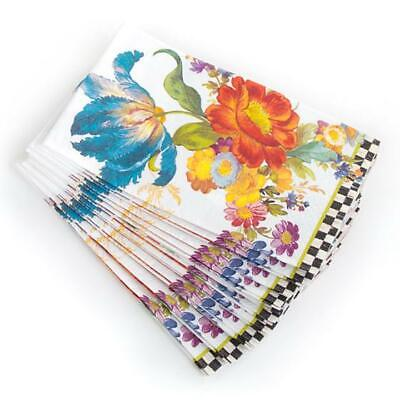 $14.98 • Buy New MacKenzie Childs Flower Market-White Guest Paper Towels Napkins 15 Per Pack