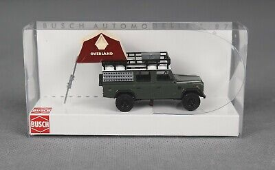 Busch 50374 (H0, 1:87) - Land Rover Defender With Roof Tent - New • 19.58£