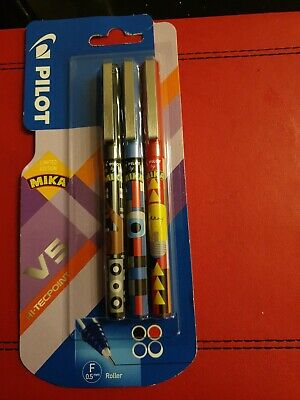 £4.99 • Buy Pilot Frixion Mika  Rollerball Pen Pack Of 3 Assorted