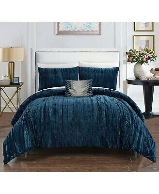 $ CDN139.88 • Buy Chic Home Westmont Crushed Velvet Royal Luxury 4-Pc Comforter Set - QUEEN - Navy
