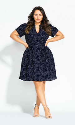 AU40 • Buy City Chic Blue Skies Dress - Navy Size Sz 14 XS