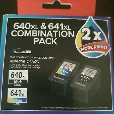 AU49.95 • Buy Canon PG-640XL 641XL Ink Cartridge - Combination Pack