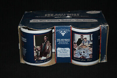 $ CDN21.23 • Buy Norman Rockwell Vintage The Saturday Evening Post Freedom To Worship Coffee Mugs