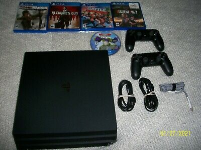AU383.98 • Buy PS4 Pro Sony PlayStation 4 Pro 1TB With 5 GAMES 2 CONTROLLERS BUNDLE RES.EVIL 3