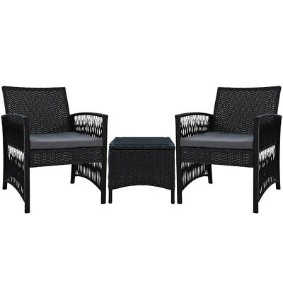 AU207.95 • Buy New Gardeon Patio Furniture Outdoor Bistro Set Dining Chairs Setting 3 Piece Wic