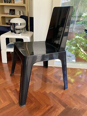AU75 • Buy NEW Spanish Designer Black Chair Dining Office Study In / Outdoor Plastic