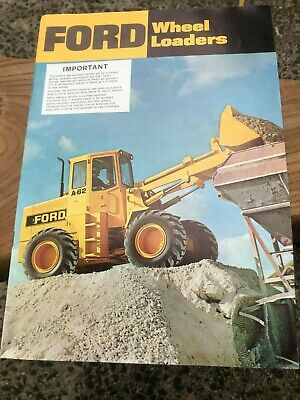AU30 • Buy Vintage Ford A62, A64, Wheel Loader Sales Brochure Made In USA Circa 1975