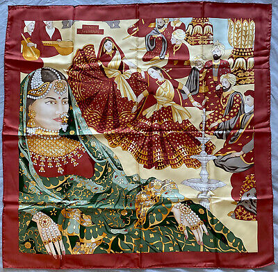AU241.65 • Buy Genuine Vintage Hermes Silk Scarf Splendeur Des Maharajas Authentic 1996