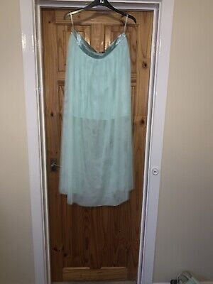 Marks And Spencer Limited Edition Size 14 Mint Green Net Skirt Midi Brand New • 3.99£