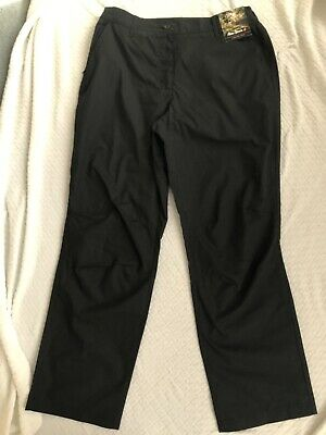 Womens Ladies Peter Storm Black Ramble Trousers Size 12 • 3.10£