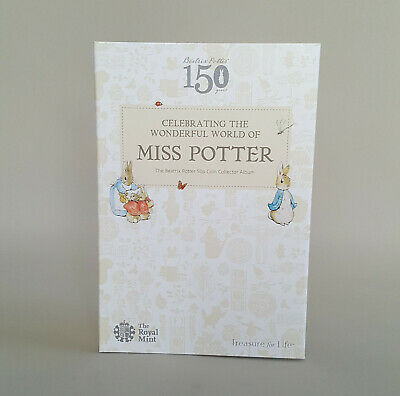50p Fifty Pence Beatrix Potter Coin Album Royal Mint Collector Folder 2016 • 8.32£
