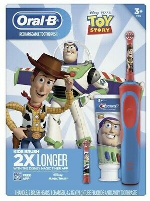 AU22.60 • Buy New Oral-B Kids Toy Story Rechargeable Electric Toothbrush Woody Buzz Lightyear