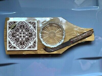 £7.50 • Buy Cheese Board And Knife Set Small Sealed