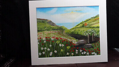 Path To The Sea - B TAYLOR - Original Painting On Canvas Paper In Unframed Mount • 25£