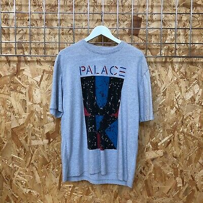 $ CDN18.53 • Buy Palace 'UK' Spirit Graphic Tee T-Shirt L LARGE Grey Tri Ferg Supreme Condition