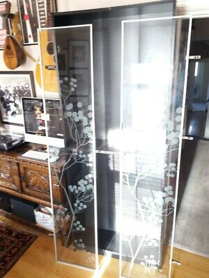 Ikea Limited Edition Billy Bookcase With 2x Glass Doors, Black – Very Good Cond. • 90£