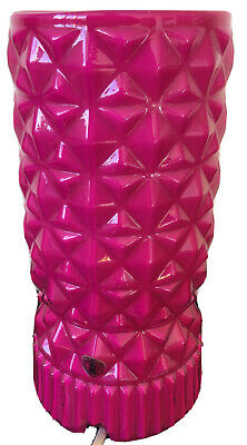 Vintage Pink Geometric Textured Glass Atmospheric Lamp Light Ikea Kitsch Retro • 30£