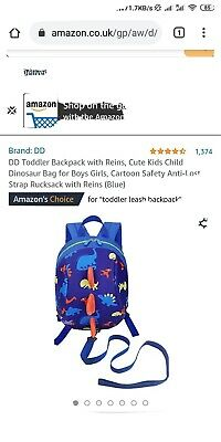 DD Toddler Backpack With Reins, Cute Kids Child Dinosaur Bag For Boys Girls,... • 3.99£