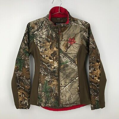 $21.99 • Buy Realtree Womens Long Sleeves Stand Up Collar Camouflage Red Full Zip Jacket 35