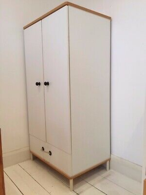 Ikea Children's Wardrobe White With Drawer • 5.10£