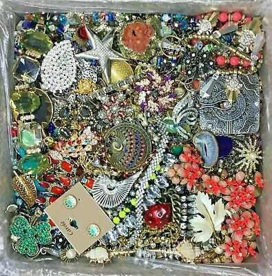 $ CDN18.92 • Buy Unsearched Jewelry Vintage Modern Huge Lot Junk Craft Box 3 Lbs POUND Piece Part