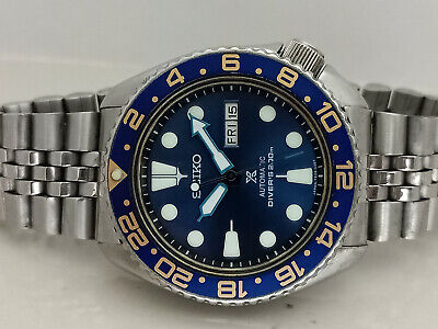 $ CDN89.51 • Buy Vintage Seiko Diver 6309-7290 Blue Prospex Modded Automatic Men Watch 7n6816