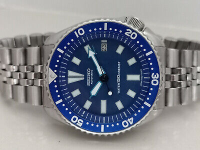 $ CDN64.30 • Buy Vintage Blue Face Modded Seiko Diver 7002-700a Automatic Men's Watch Sn 0n0968 C