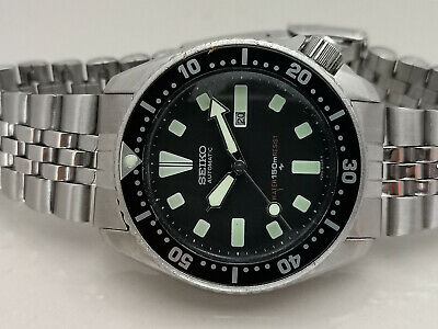 $ CDN140.56 • Buy Vintage Seiko Diver 4205-0155 Black Face Automatic Ladies Watch 560024