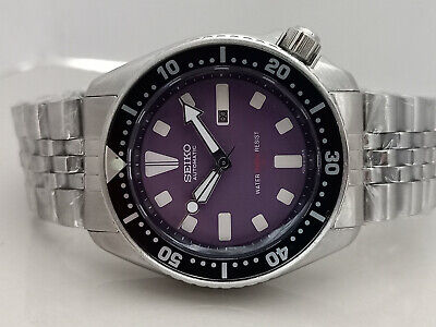 $ CDN108.42 • Buy Vintage Seiko Diver 4205-0155 Purple Face Automatic Ladies Watch 4n0949