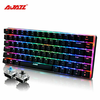 AU79.89 • Buy AU Ajazz AK33 Wired Mechanical Keyboard RGB LED Backlight USB Gaming Keyboard