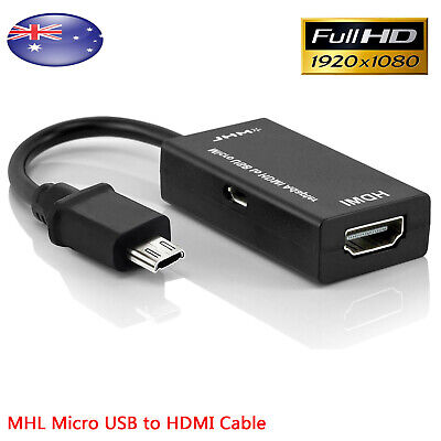 AU6.95 • Buy Universal MHL Micro USB To HDMI 1080P HD TV Cable Adapter For Android Devices AU
