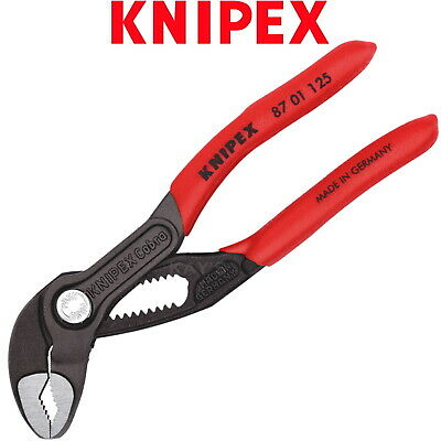 £23.79 • Buy Knipex Water Pump Pliers 125mm 5in Cobra Push Button Wrench PVC Grips 87 01 125