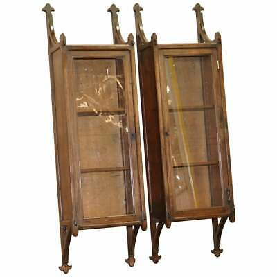$1733.63 • Buy Pair Of Rare Circa 1800 Gothic Revival Wall Hanging Cabinets Bookcases Cupboards