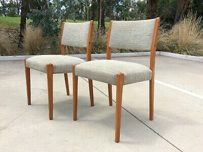 AU49.99 • Buy *PAIR* Mid Century TEAK Dining Chairs RETRO ACCENT SEATING Valet OCCASIONAL SEAT