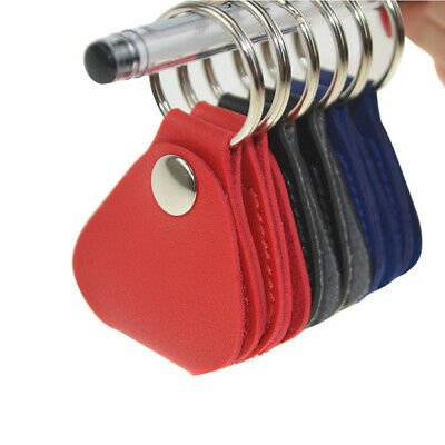 $ CDN5.43 • Buy 1/2pcs Mini Leather Keychain Guitar Pick Holder Plectrums Bag Colors Gifts