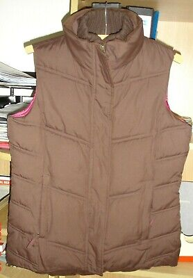 Ladies Peter Storm Go To Quilted Gilet Colour Dark Brown Size 10 • 8£