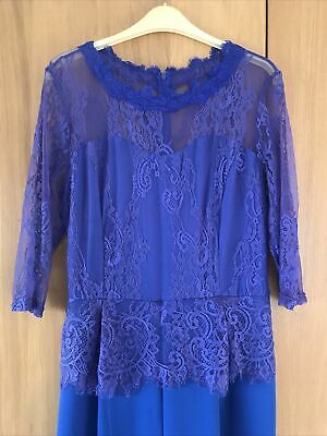 Colbat Blue Jump Suit Size-14 Never Worn/ Lace Detail. Dress Up Or Down. • 5£