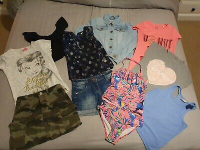 Girls Bundle 7-8 Years Tops Skirt Shorts Outfit. Inc Bluezoo TU F&f & MORE • 5.50£