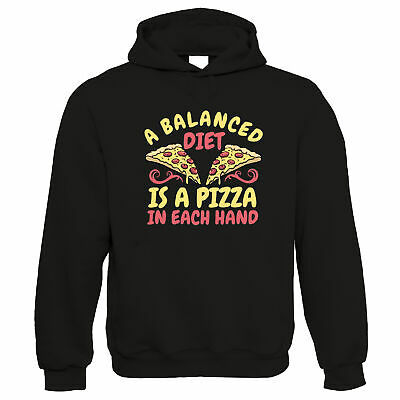 Balanced Diet Pizza, Hoodie - Food Exercise Fitness Workout Gym Gift • 24.99£