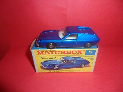 $ CDN1.75 • Buy Matchbox Sup/fast #5-Lotus Europa,Mint In Excellent Orig F Type Box,NOS,1969/74.